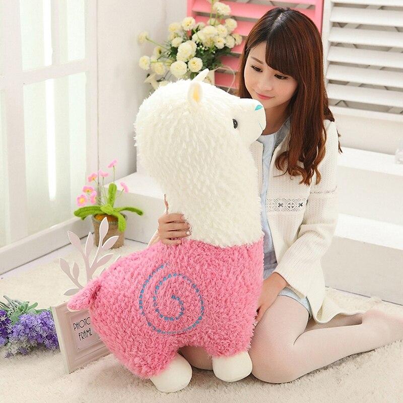 Kawaii Sheep Alpaca Dolls Plush Toys Stuffed Llama Yamma Pillow Soft - პლუშები სათამაშოები - ფოტო 3