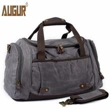 Купить с кэшбэком AUGUR Men Travel Bag Large Capacity shoulder Handbag Designer Male Canvas Messenger High Quality Casual Crossbody Travel bags