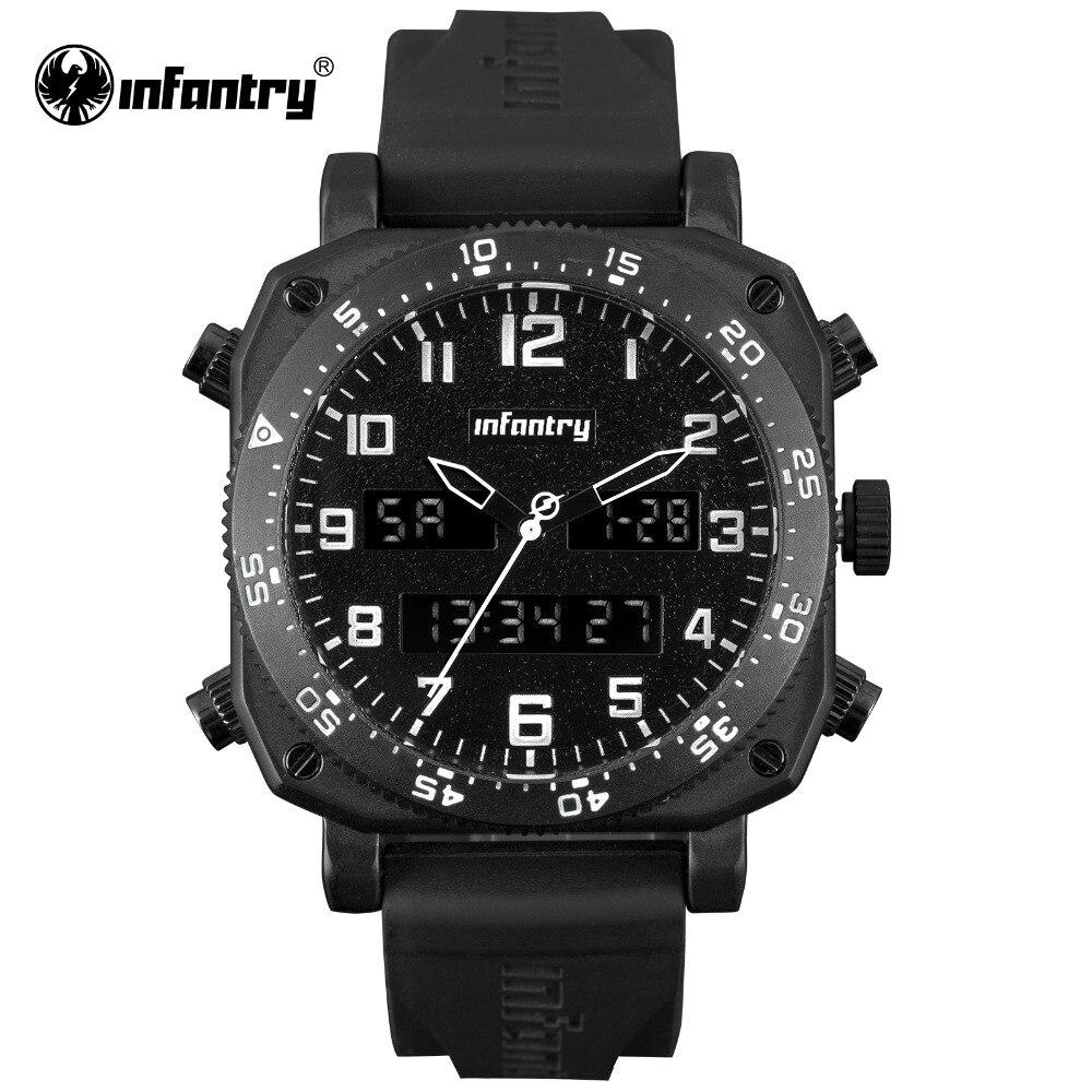 622c85340b4 INFANTARIA Militar Assista Men Quartz Digital relógio de Pulso Mens  Relógios Top Marca de Luxo Dual