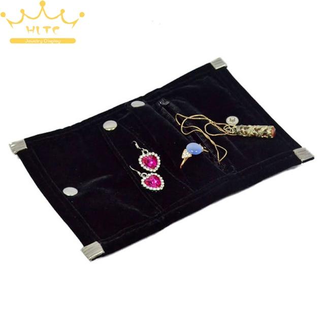 Aliexpresscom Buy Free Shipping Mini Black Velvet Jewelry Roll