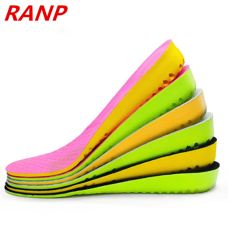 Height Increase Insoles Orthopedic Shock Absorption  Insert Foot Care Invisiable Air Cushion Hidden Heel For Men Women Shoe Pads