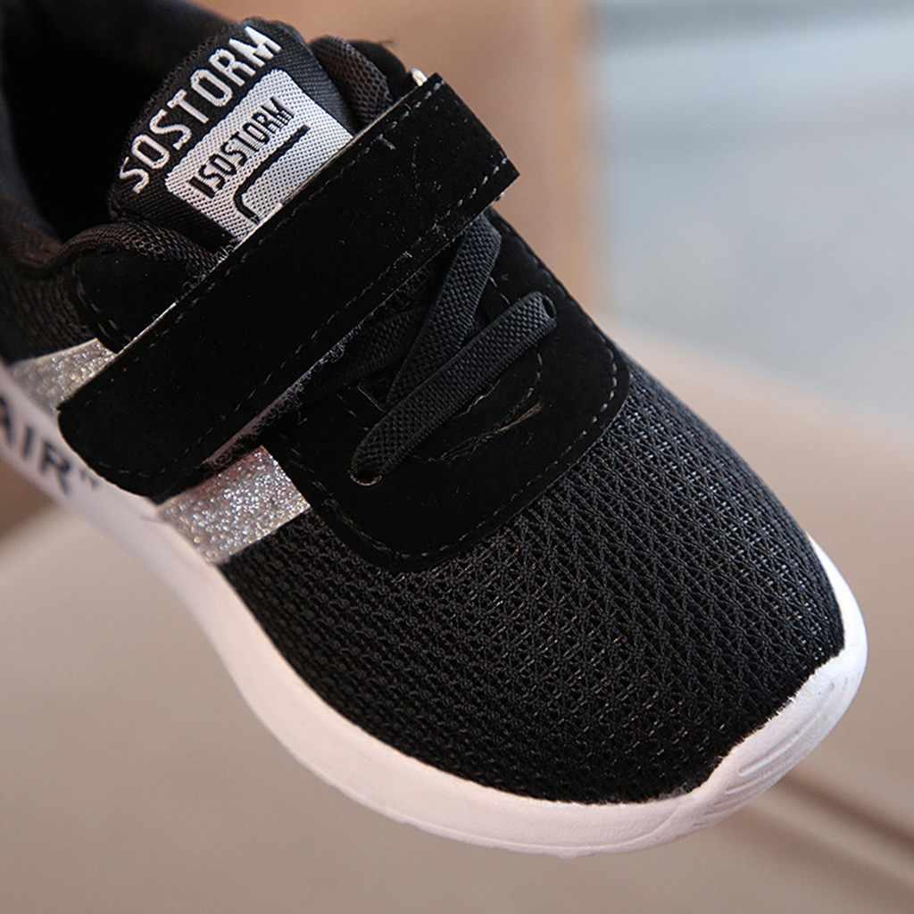 MUQGEW חדש אופנה ילדי תינוקות ילדי תינוק בנות בני רשת מוצק בלינג ספורט לרוץ נעליים יומיומיות 2019