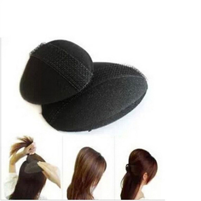 2pcs Hair Base P Styling Insert Tool Volume Fluffy Princess Increased Sponge Pad