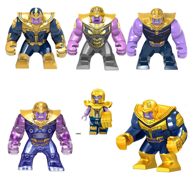 Marvel Superhero DC série Thanos Thanos E seu filho mini Figuras de Ação Boneca Blocos de Construção Tijolos Brinquedos Para Crianças presentes