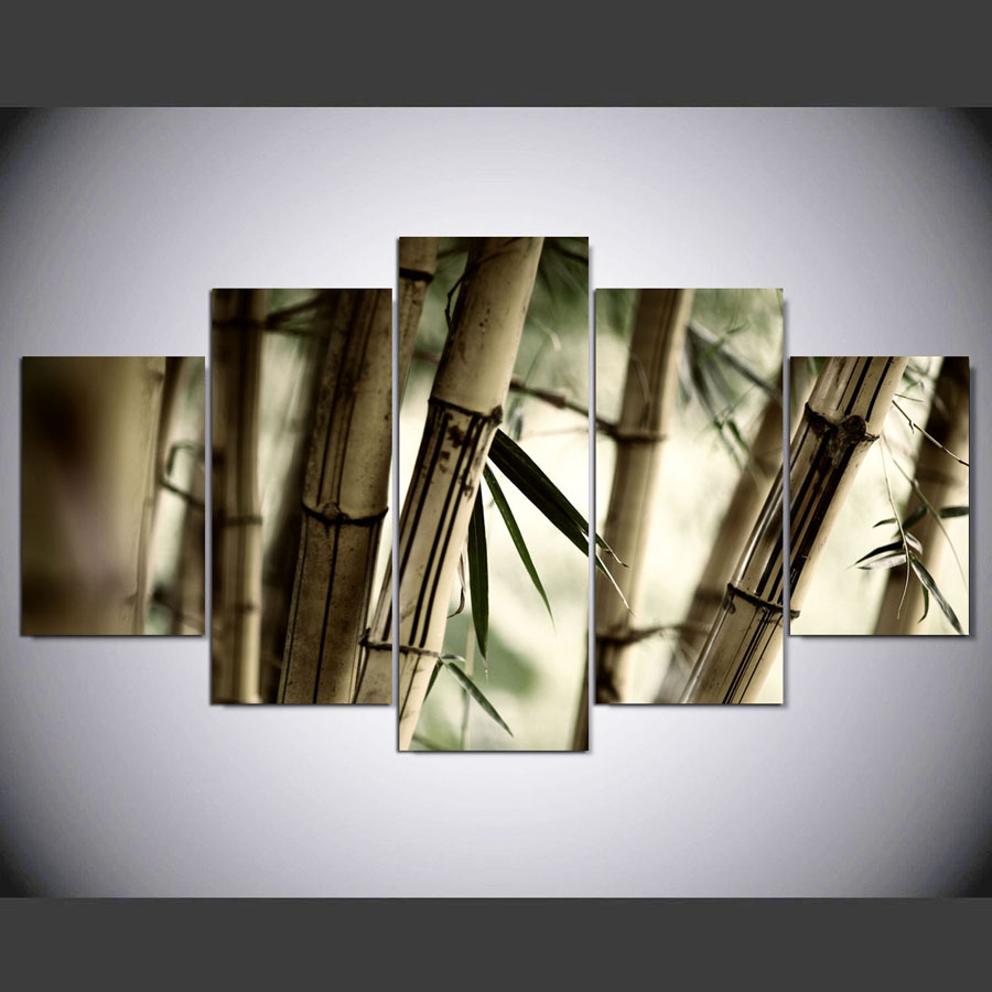 panel hd impreso de bamb pintura lienzo home decor wall art imagen for living room kn