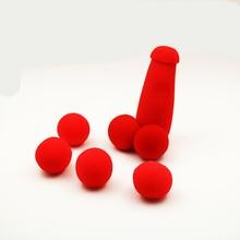 1 Набор, маленькие губки Brother, волшебные фокусы, 4 шт., красные губчатые шарики, забавные гаджеты, уличный сценический маг, маг, шутка, ручка