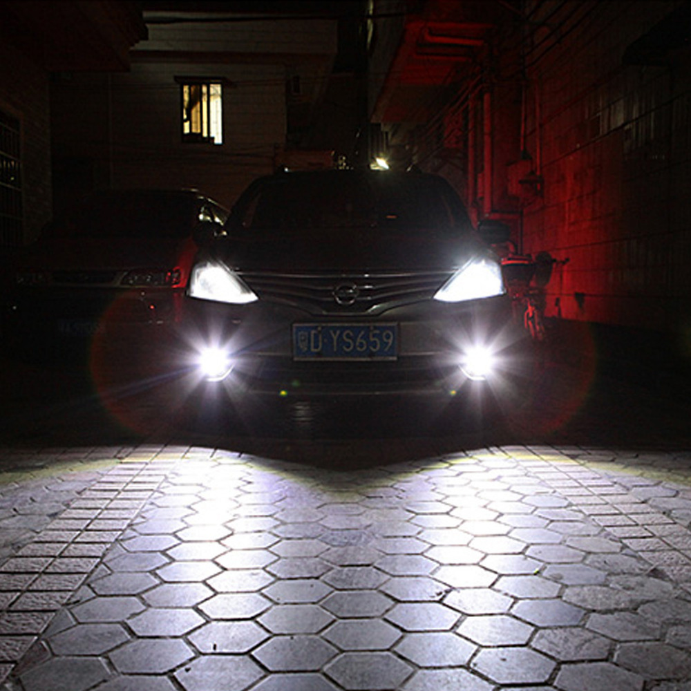 2x Wind Powered 8 LED Car DRL Daytime Running Light Fog Head Lamp Bulbs White 8I