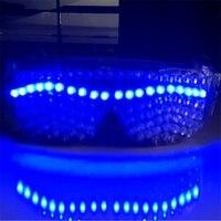 Программируемый Синий светодио дный LED очки мигасветодио дный ющий светодиодный световой очки для Хэллоуина очки для события поставки DJ кл