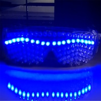 Programmable Blue Light Led Glasses Flashing Led Luminous Halloween Party Glasses Eyewear For Event Supplies DJ Club Stage Show