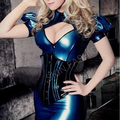 Free shipping !! Women tight fit fetishes latex corsets(without skirt)