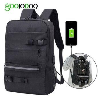 GOOJODOQ Anti-theft Waterproof USB Charging Men Women Laptop Backpacks Bag 16 inch For Macbook Air Pro 13 14 15 16 School Bag