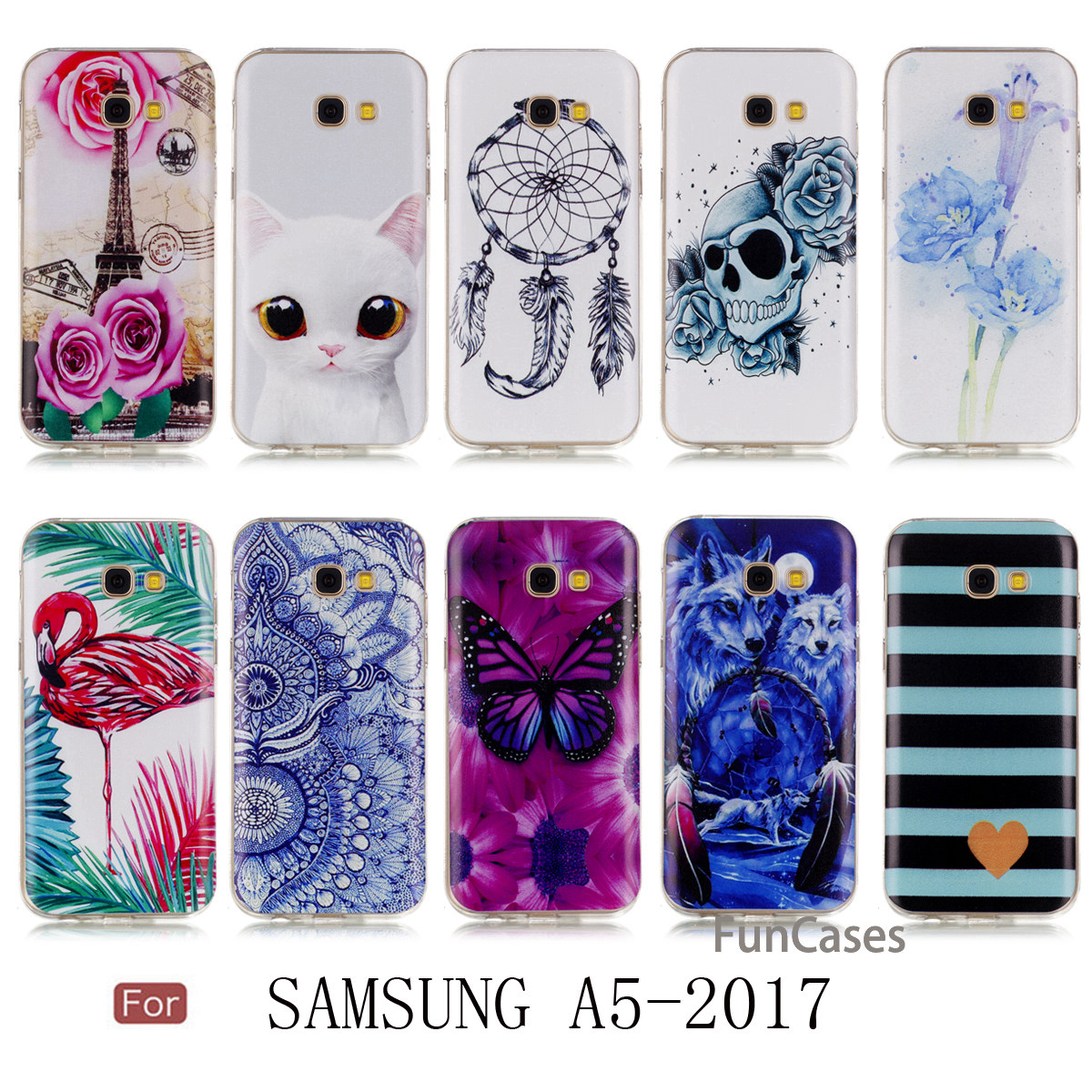 MKSUP Wolf Case sFor Hoesje Samsung A5 2017 Soft TPU Phone Case Movil Quotes Messages Silicone Cover Samsung A5 2017 Venta