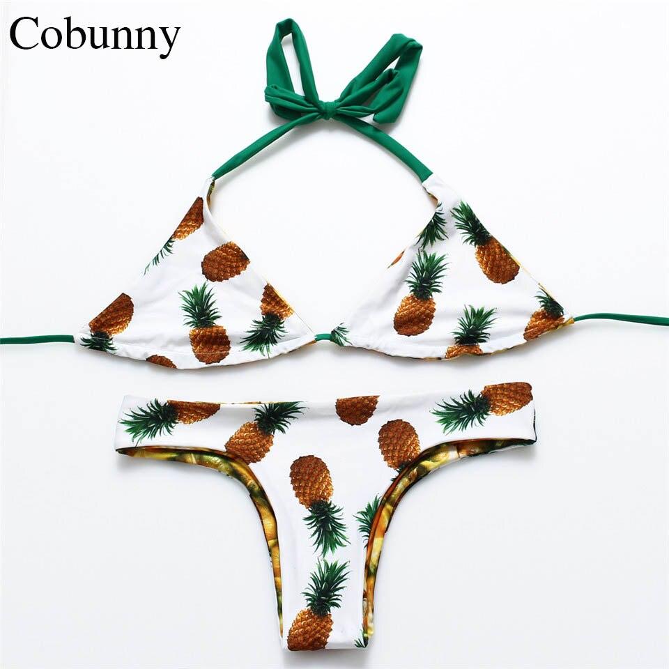 codice promozionale 7e408 fe28e COBUNNY Nuovo Ananas Bikini Brasiliano set Reversibile ...
