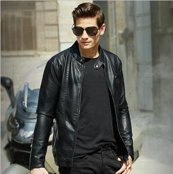 2018 Classic Style Motorcycling PU Leather Jackets Men Slim Male Motor Jacket Men's Clothes