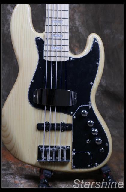 Jazz Bass 5 String Bass Guitar Z-ZV4 light ASH Body - Free Shipping  3