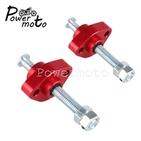 2X Red Motorcycle Cam Chain Tensioner 6063 T6 CNC Aluminum Manual Cam Tensioner for Honda VTR1000F SuperHawk Firestorm 1997 2005