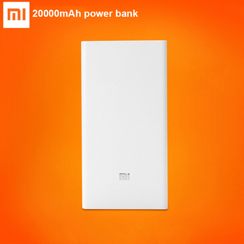 100 Original font b Xiaomi b font Power Bank 20000mAh External Battery Portable Charger Mobiles Powerbank