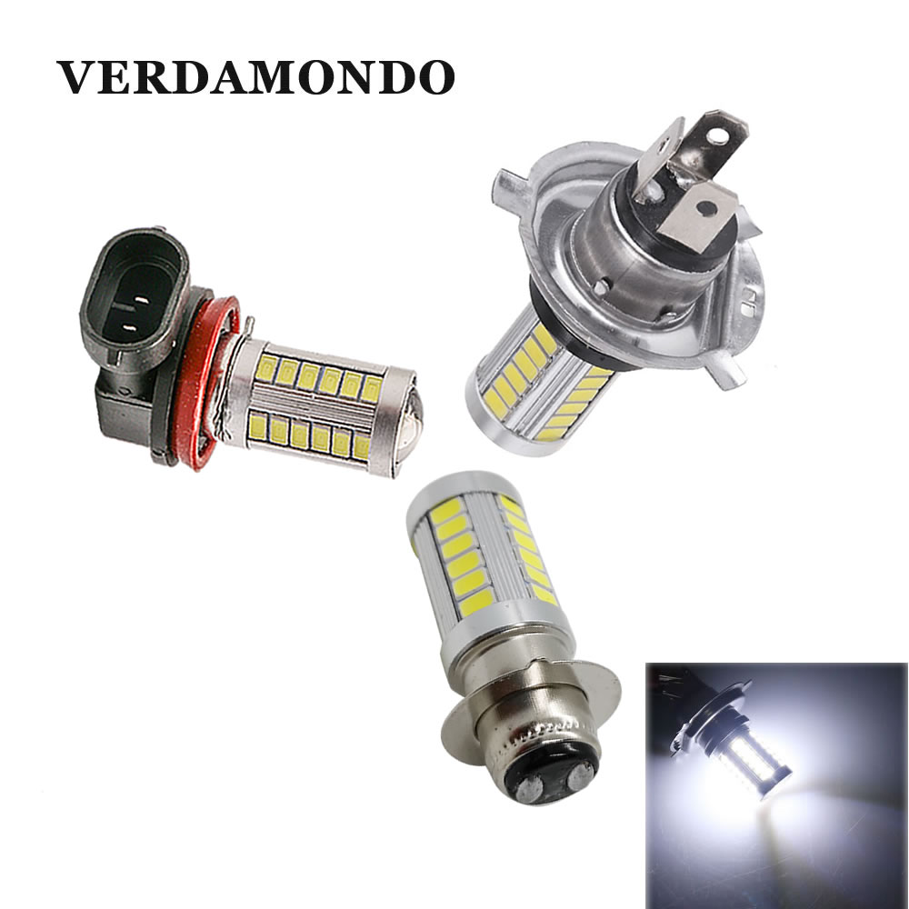H4 H6M H8 H11 Led 33 SMD 5730 Bulb Car-styling Fog Light Driving Led Car Bulbs Motorcycle DRL Daytime Running Light Universal new 1pc h4 100w led 20 smd projector fog driving drl light bulbs hid 6000k white light c45