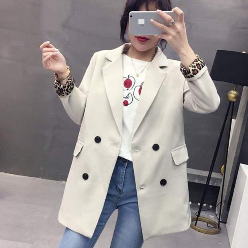 Motiviert Frauen Frühling Herbst Blazer Jacke 2019 Neue Stil Mode Lose Große Größe Mantel Weibliche Casual Blazer Mantel Frauen Nzyd1335 Anzüge & Sets Blazer