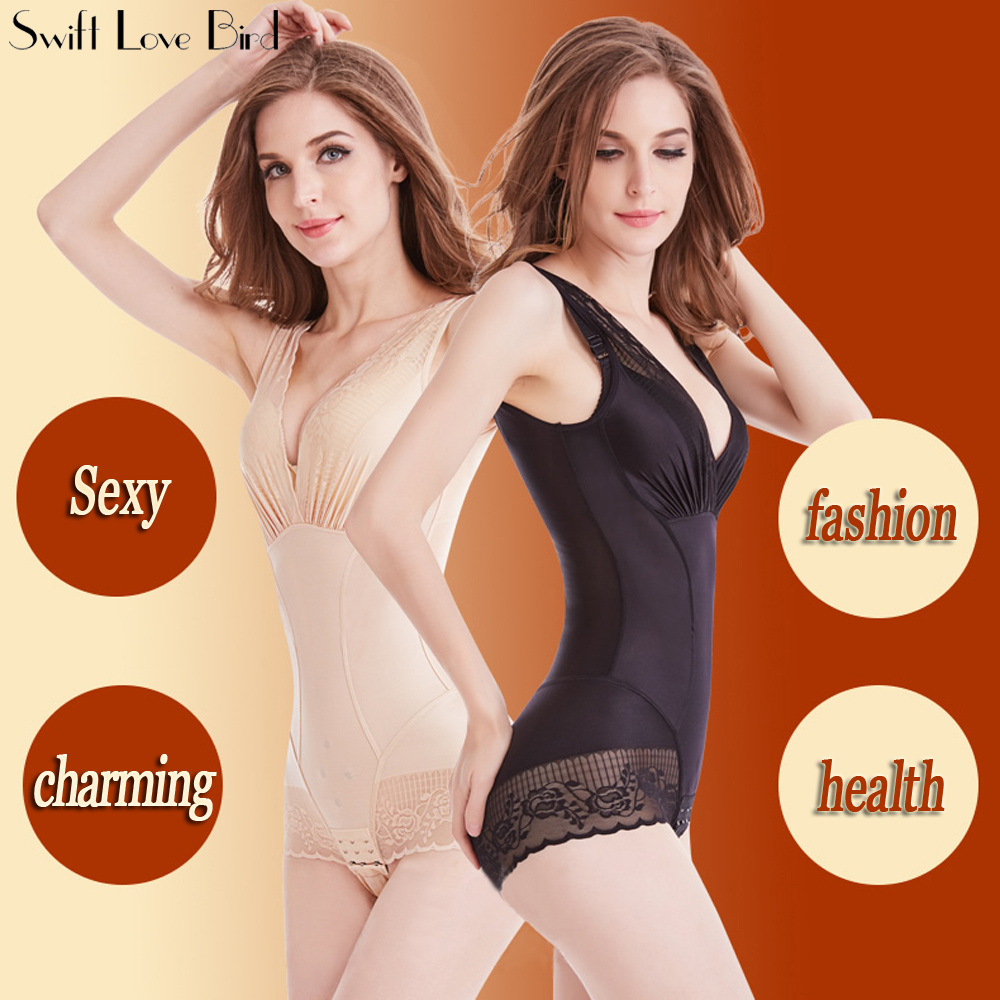 Women Full Body Seamless Shapewear Bodysuit Firm Control Girdle Corset Shaper  Post Surgery Sleep  Shaper Regular Compression