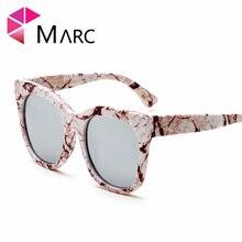 c1a89ea9e8 MARC UV400 mujeres hombres moda gafas de Sol oculos gafas ojo de gato Rosa  leopardo espejo