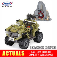 XingBao 06010 347Pcs The Oprah Sand Car Set Genuine Educational Military Series Building Blocks Bricks Toys