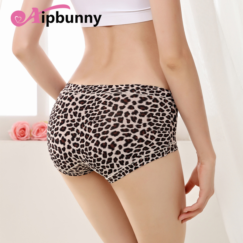 AipBuuny Hipster Superelastic Leopoard Women Panties Sexy Push up Breathable Boyshort Night Sleep Wear Lingerie Underware Briefs