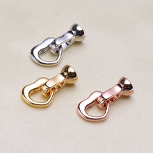 hot deal buy pearl necklace bracelet clasp, love shape k gold plated clasp connector, maintenance of diy accessories material link button