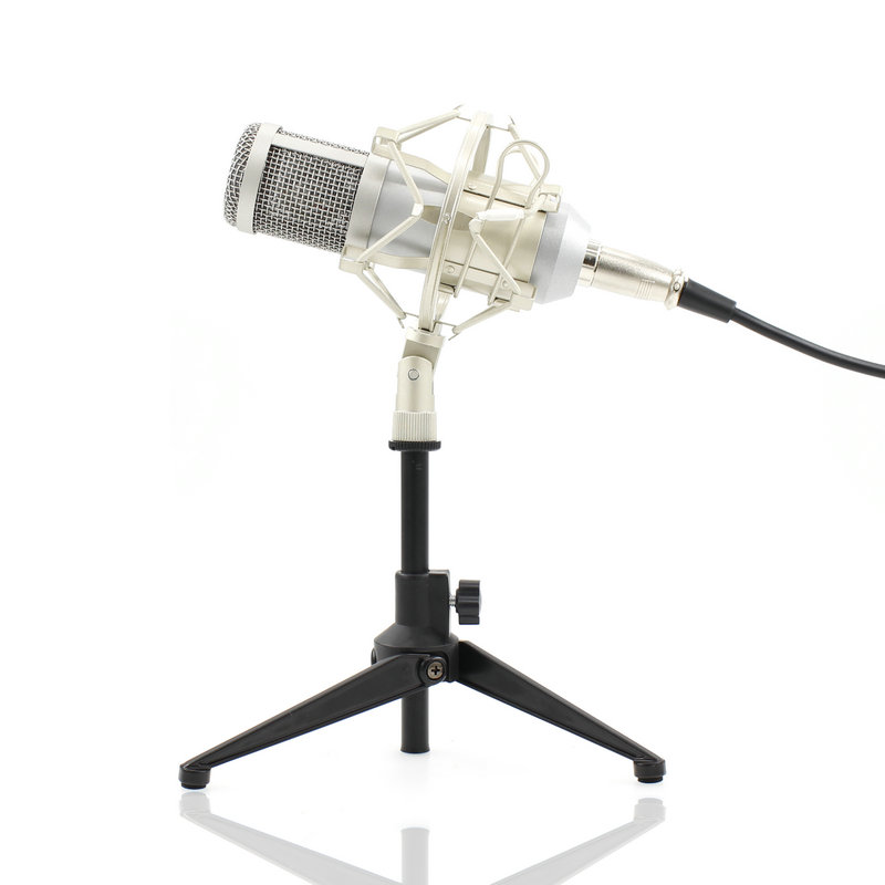BM-800 Condenser Microphone Professional 3.5mm Mic With Metal Tripod For Video Recording Studio Computer best quality yarmee multi functional condenser studio recording microphone xlr mic yr01