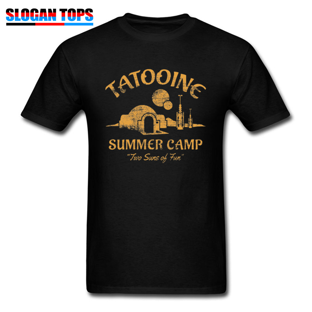 Star Wars T Shirt For Men Summer T-shirt Two Suns Of Fun Darth Vader Tshirt Military Retro Black Tees Custom 80s Movie Tops 3XL
