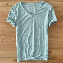 Fashion summer Mens funny t Shirts solid V Neck Men Short Sleeve T Shirt Casual Cotton