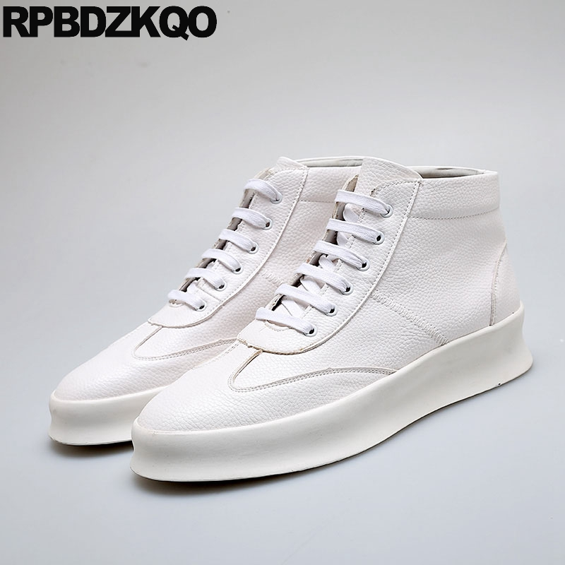 26244221 Men Shoes Casual High Top Elevator Sneakers Winter Quality British Style  Rubber Height Increasing Skate White Trainers Designer