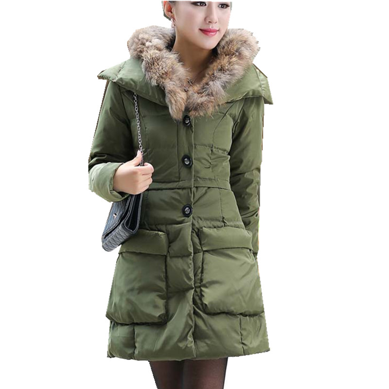 Aliexpress.com : Buy White Duck Goose Down Parkas 5XL Winter Coat ...
