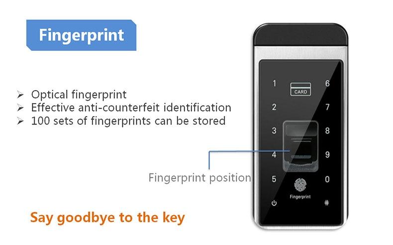 Fingerprint Door Lock Digital Fingerprint  Password  Key  Card 4 in 1 Lock Electronic Smart Door Locks For Home Office (11)