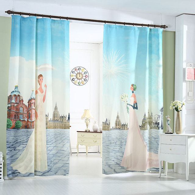 New 2016 Hot Ing Children Bedroom Curtains The Sitting Room 3 D Digital Printing Blackout Home Decorations