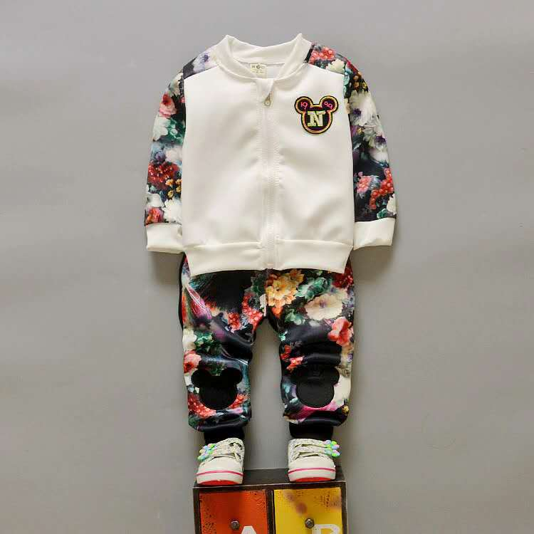 Autumn Children Clothing Sets Boys Kids Warm Long Sleeve Coats+pants Fashion Kids Clothes Sporting Suit For Girls 1-4Y H21270 autumn winter girls children sets clothing long sleeve o neck pullover cartoon dog sweater short pant suit sets for cute girls