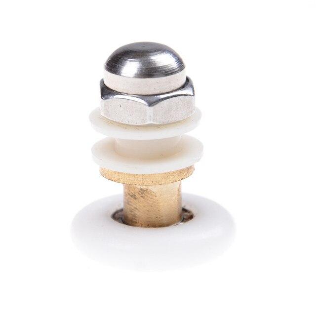 zlinkj 1 stcke durchmesser 25mm edelstahl messing duschtr rollen luferrderriemenscheiben - Duschtur Rollen