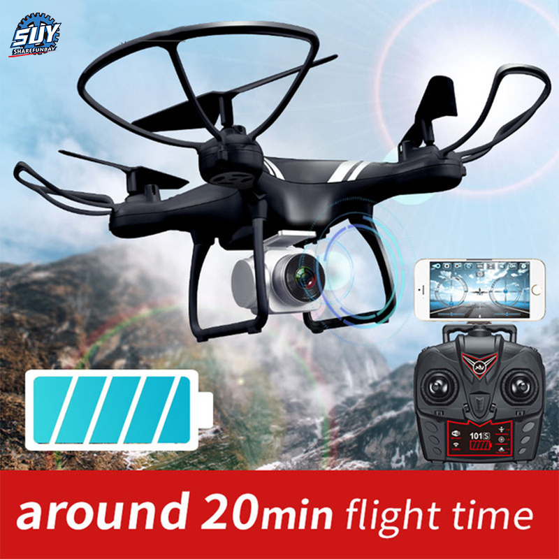 KY101 WiFi FPV Wide Angle 720P/1080P Camera Selfie RC Drone Altitude Hold Headless Mode 3D Flips One Key Return Quadcopter