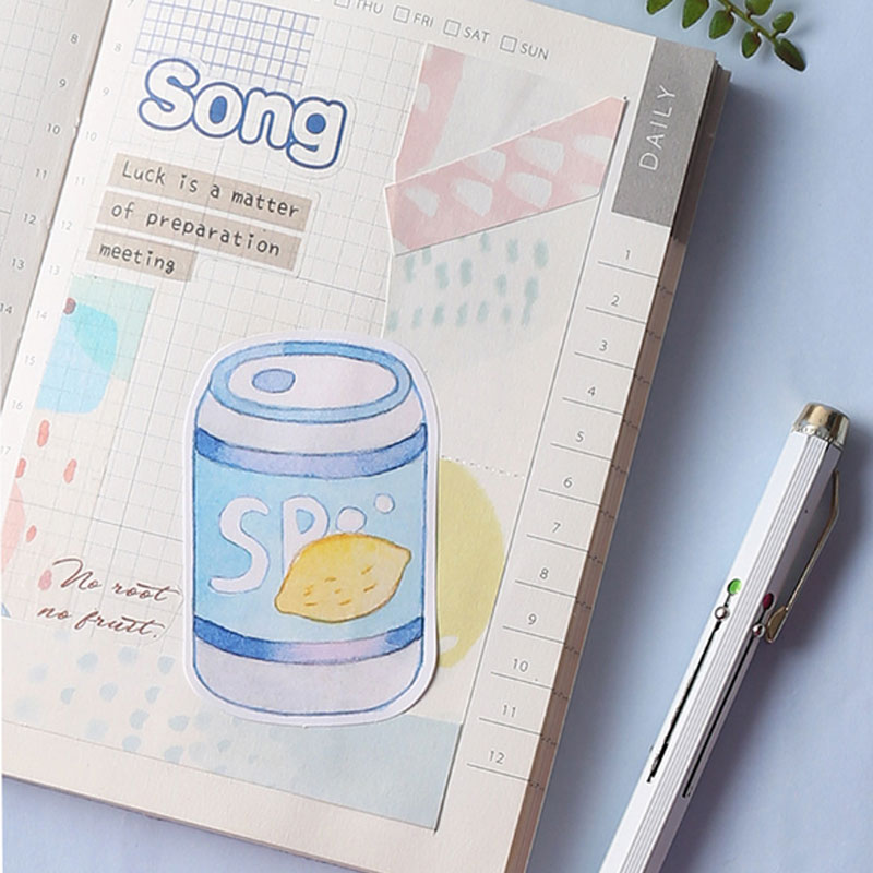 Kawaii Blues series Memo Pad Planner sticky notes Cute Stationery Paper Bookmarks papelaria School Office Supply in Memo Pads from Office School Supplies