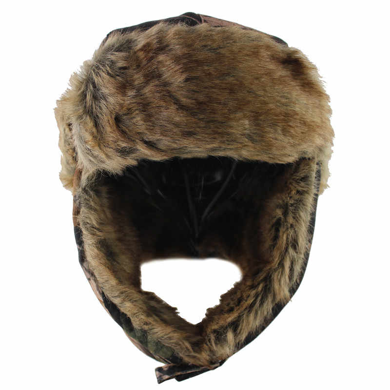 ... 2018 New Men Bomber Hats Winter Trooper Trapper Hat Ushanka Russian Hat  with Faux Fur Outdoor ... b5f13eebdaa5