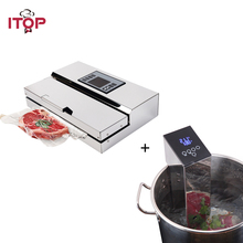 ITOP вакуумной упаковки герметик машина + погружения Sous Vide 2 шт./компл. еда герметик и плита для готовки циркулятор процессоры
