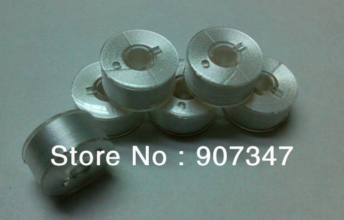 Free shipping Class 15 style A plastic sided prewound bobbins for joname embroidery machine 144pcs white