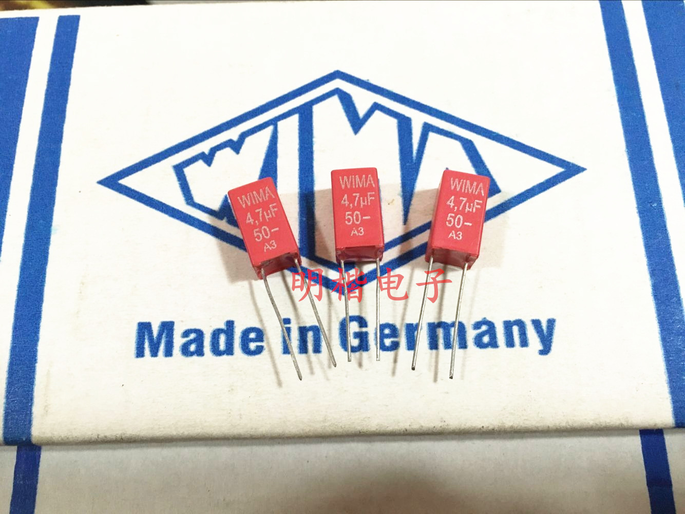 2019 Hot Sale 10pcs/20pcs German Red WIMA MKS2 50V 4.7UF 475 4U7 50V P: 5mm Audio Capacitor Free Shipping