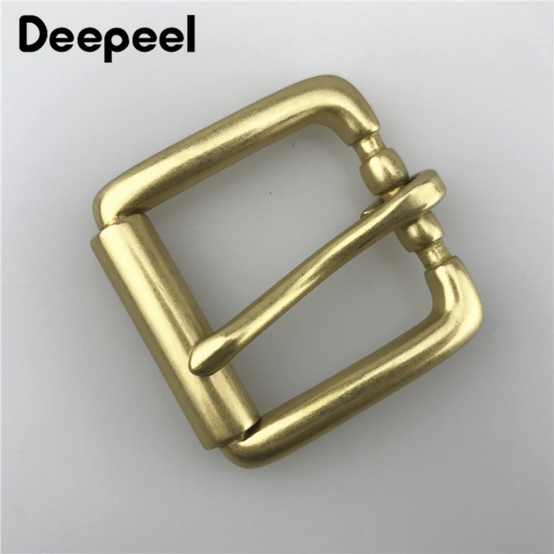 High Quality Solid Brass Belt Buckles For Men Metal Pin Buckle For Belt 34mm DIY Leather Craft Belt Head Jeans Accessories