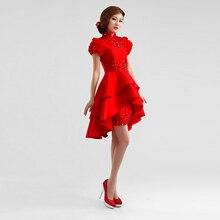 Mode schöne tiered roten kurzen kleid 2788 frauen Cocktailkleider größe 2-12