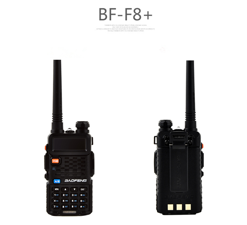 100% Original BaoFeng F8+ Upgrade Walkie Talkie Police Two Way Radio Pofung Dual Band Outdoor Long Range VHF UHF Ham Transceiver