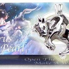 Qingmos Созвездие желаний жемчужина одна коробка зодиакальная подвеска телец ожерелье с Oyster Love жемчужные Чокеры женское ожерелье-wh3633