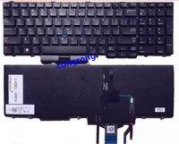 Teclado de EE. UU. Para DELL Precision E5550 E5570 E6540 3510 M3510 7510 M7510 teclado con retroiluminación inglés MP-13P53USJ698