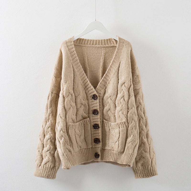 Spring Sweater Women Cardigan Jacket Vintage Knitwear Women Basic Coats Knitted Sweater Jumper Single-Breasted Cardigan C3968