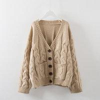 Spring Sweater Women Cardigan Jacket Vintage Knitwear Women Basic Coats Knitted Sweater Jumper Single Breasted Cardigan C3968